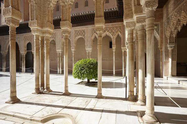 Columnas del Patio de los Leones. Foto: Mark Horn
